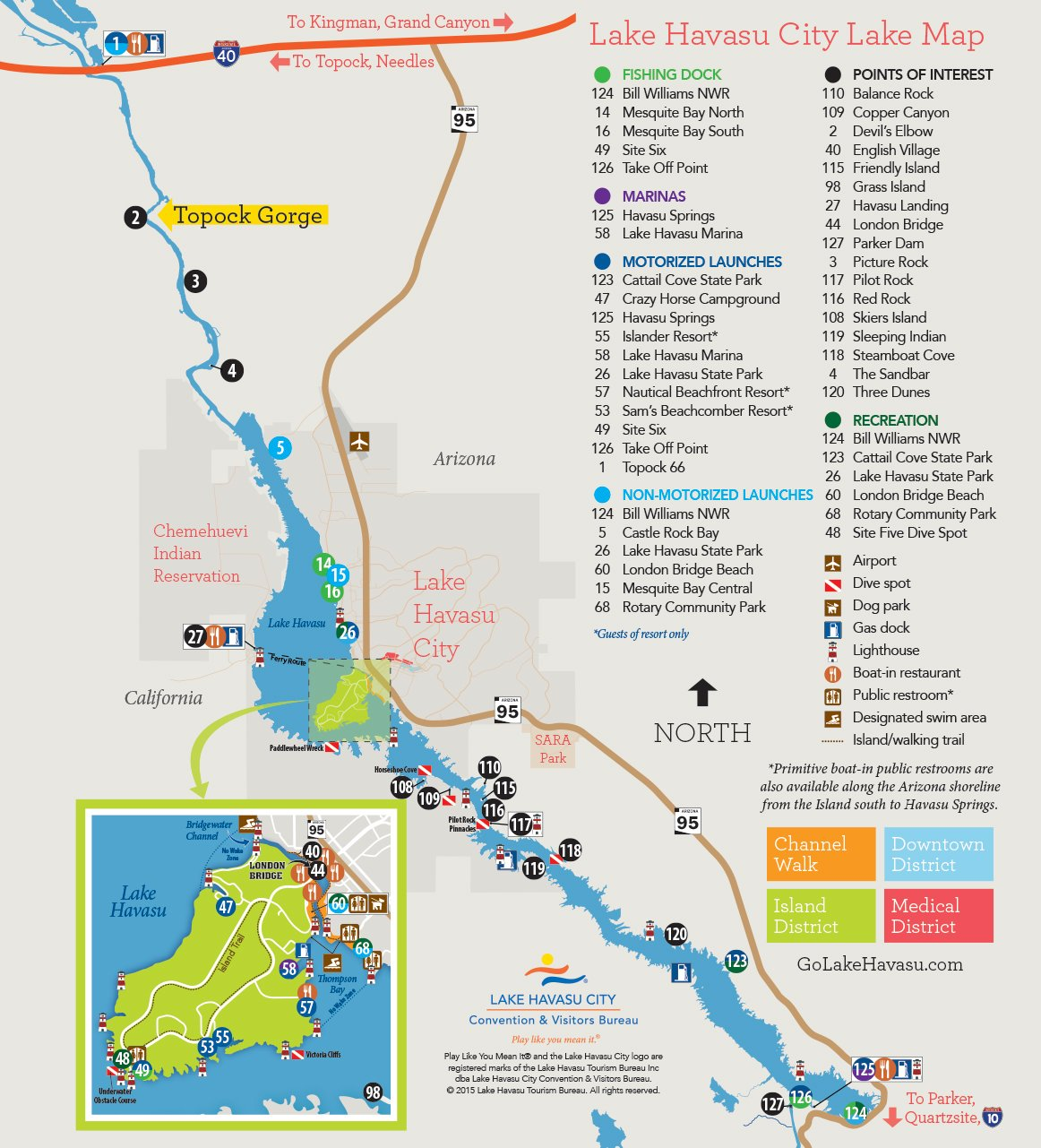 Lake Havasu City Lake Map