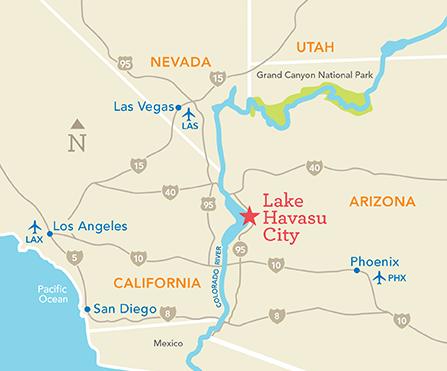 Driving Map Of Arizona.Fact Sheet Lake Havasu City