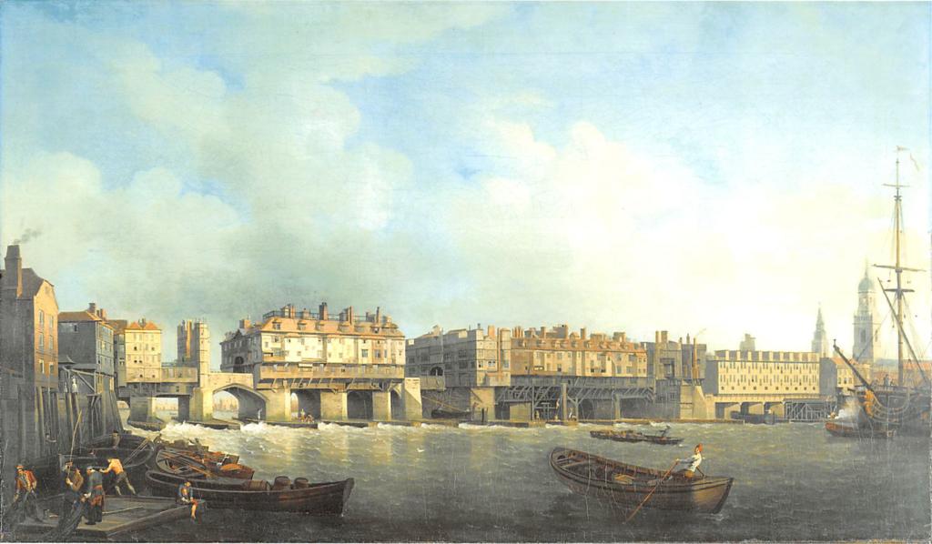 london bridge in 1757