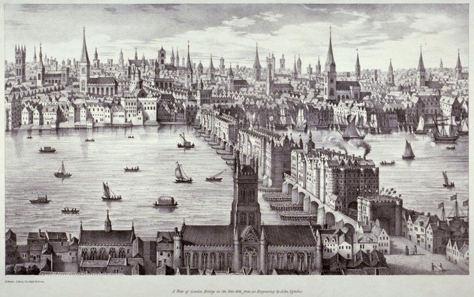 old london bridge 1209 AD